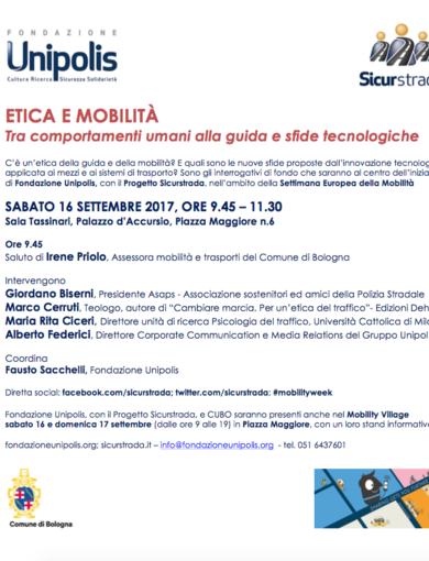 Etica e Mobilità - Programma Convegno 16 settembre 2017